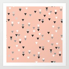 triangle pink background Art Print