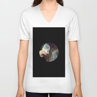 psychology V-neck T-shirts featuring Psychology Of Stylistic Change by mofart photomontages