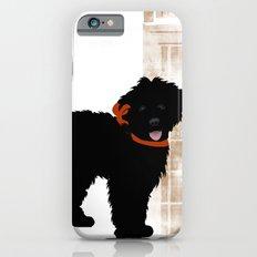 Black Labradoodle dog Slim Case iPhone 6