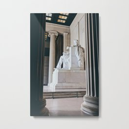 On His Marble Throne Metal Print
