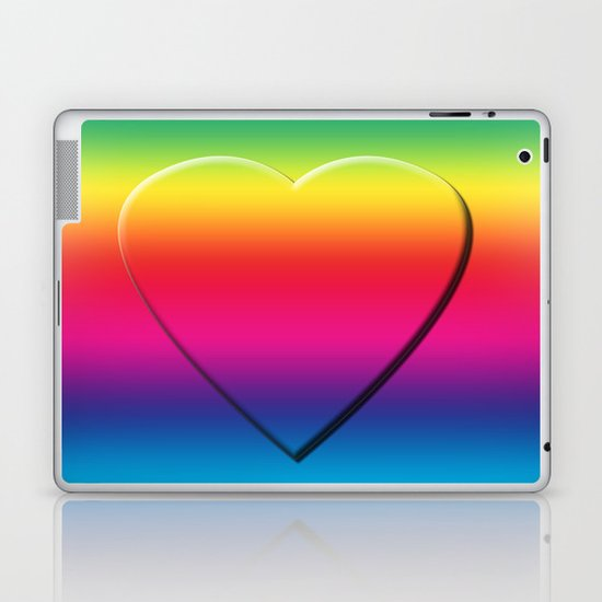 One Heart Rainbow Laptop & iPad Skin