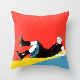 sae-orange Throw Pillow