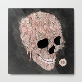 Skulls Aint Dead Metal Print