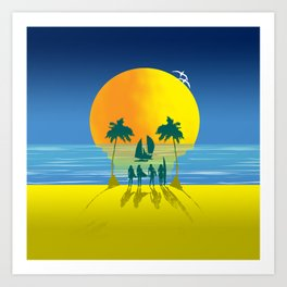 Beach Skull Art Print