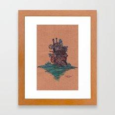 The Moving Castle Framed Art Print