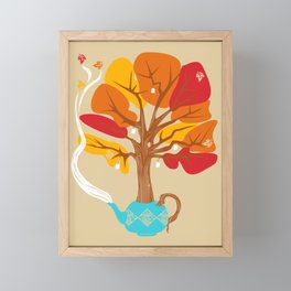 Tea Leaves Framed Mini Art Print