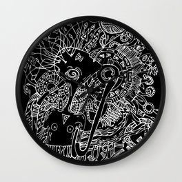 Singer of spring nature Wall Clock