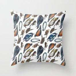 Dead Bird Pattern Throw Pillow
