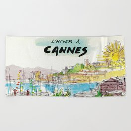 Winter In Cannes Beach Towel