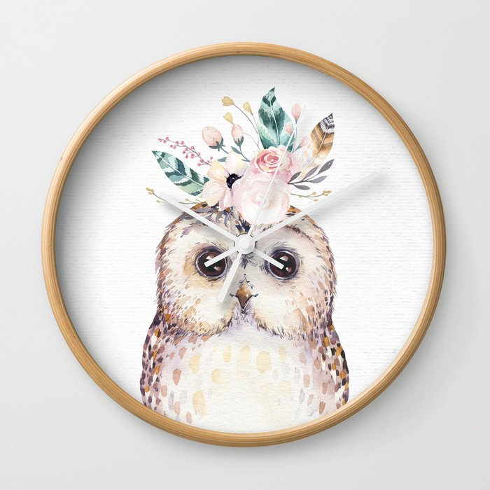 Forest Owl by Nature Magick Wall Clock