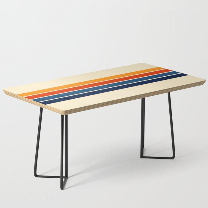 Classic Retro Stripes Coffee Table