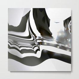 Zebra Wave Metal Print