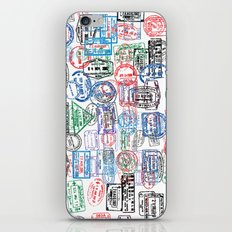 Passport Stamps iPhone & iPod Skin