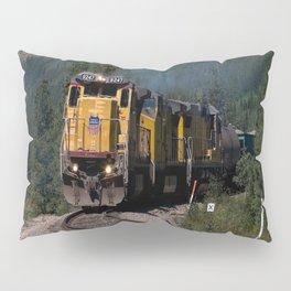 Train in Mountain Pass Pillow Sham