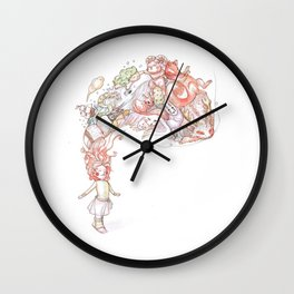 Heros with imagination Wall Clock