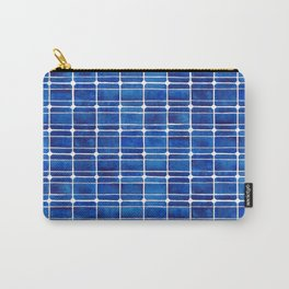 Monocrystalline Solar Panels Watercolor Painting Carry-All Pouch