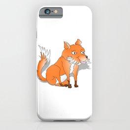Happy Cartoon Fox iPhone Case
