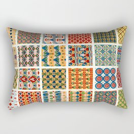 Egyptian Patterns from Vintage Design Book Rectangular Pillow