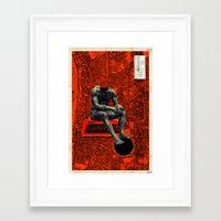 boxer Framed Art Prints featuring Boxer by Frank Moth