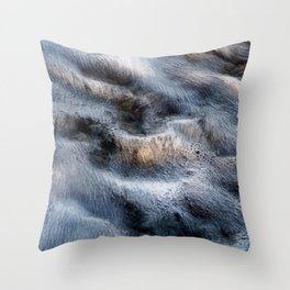 Wavy sea Throw Pillow