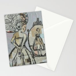 In the mirror (grey) Stationery Cards