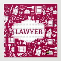 lawyer Canvas Prints featuring Red Lawyer by Be Raza