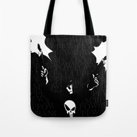 punisher Tote Bags featuring The Punisher by Rob O'Connor