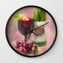Grape Essence Wall Clock