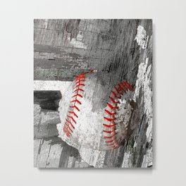 Baseball art vs 13 Metal Print