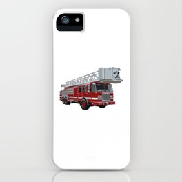 Fire Engine Truck with Ladder iPhone Case