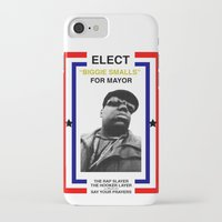 biggie smalls iPhone & iPod Cases featuring Biggie Smalls for Mayor by tracygrahamcracker