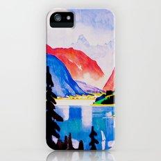 Davos Switzerland - Vintage Travel Slim Case iPhone SE