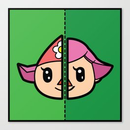 Old & New Animal Crossing Villager Female Canvas Print