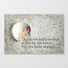 Beachy Art - Lucky Enough - Sharon Cummings Canvas Print