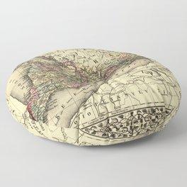 Map Of Ontario 1874 Floor Pillow
