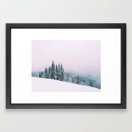 Angled Snow Framed Art Print