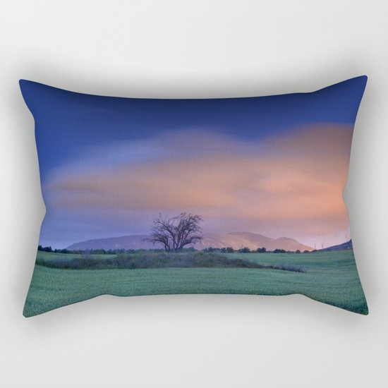 """Blue night"" Rectangular Pillow"