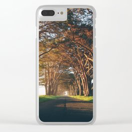Sunrise at the Tree Tunnel - Point Reyes, California Clear iPhone Case