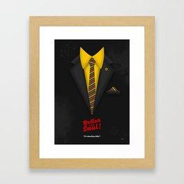"Better Call Saul - Suit No. #1 - James Morgan ""Jimmy"" McGill's Style. Framed Art Print"