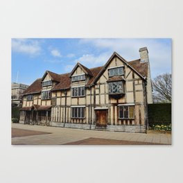 William Shakespeare's Birthplace Canvas Print