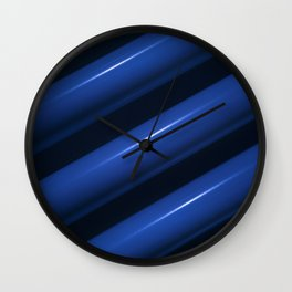 Heating pipes in blue closeup view Wall Clock