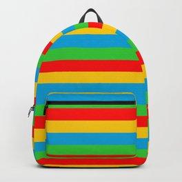 Eritrea flag stripes Backpack