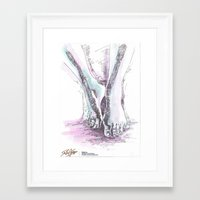 feet Framed Art Prints featuring Feet by Pedro Fraga