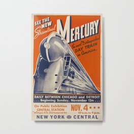 See the new Mercury Vintage Travel Poster Metal Print