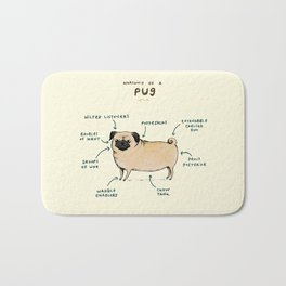 Anatomy of a Pug Bath Mat