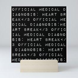 HEART</3BREAK black Mini Art Print