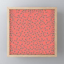 Living Coral Pillowfight Framed Mini Art Print