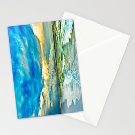 Blue Grean Fine Art Print Painted Seascape Stationery Cards