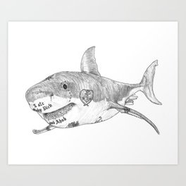 Shark Prank Art Print
