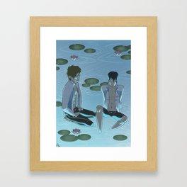 Swimming Framed Art Print